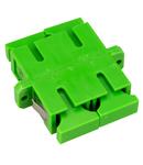 Cupla SC/APC Duplex,Plastic,Singlemode,zirc.,flansa,verdeECO