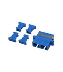 Cuplor FO SC-Dupl,Plastic,Singlemode,zirconiu,flansa,albastr