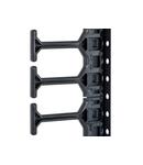 Organizator vertical de cabluri,800mm,1r,DS/DSZ/DSI/DSS 47U