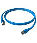 Patchcablu Cat.6a/10GB ecranat RJ45,LS0H,albastru 10m