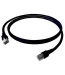 Patchcablu Cat.6a/10GB ecranat RJ45,LS0H,negru 1m