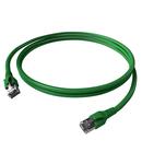 Patchcablu Cat.6a/10GB ecranat RJ45,LS0H,verde 1m