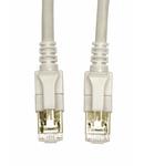 Patchcablu Cat6a cu LED ecranat RJ45 gri 10GB 0,33m