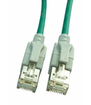 Patchcablu Cat6a cu LED ecranat RJ45 verde 10GB 10m