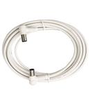Patchcablu coax.IEC-T/IEC-M,90°,Cl.A,alb,2.5m,BAK 253-96