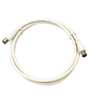Patchcablu coaxial S4H, 2xF-Quick >90dB, alb, 0,5m