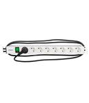 """PDU 19"""", 8xUTE c.On/Off , profil ALU 1U, cablu 2m,RAL7035"""
