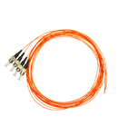 Pigtail ST, 62,5/125µm OM1, 2.0m, Easy Strip, Orange,4buc