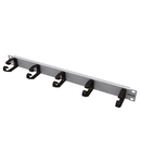 Routing Panel 1U with 5 Cable Clamps of Plastic 78mm RAL7035
