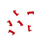 Set placuta marcare rosu Patchcord cu LED (100 buc)