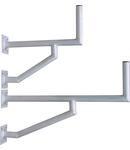 Sist.Fix.perete DP=970mm,H=250mm,2x(175x175mm),D50mm,Al