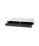Splicebox FO gol pt 12 cuplori LC-Duplex, 1U, negru
