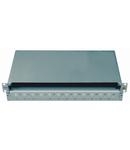 Splicebox gol pentru 24 cuple LC-duplex, 1UV, RAL7035