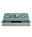 """Splicebox, 24 fibre,FC,62,5/125µm OM1, culisant,19"""",1UV"""