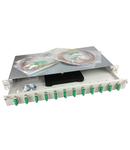 """Splicebox, 24 fibre,SC/APC, 9/125µm OS2, culisant,19"""",1UV"""