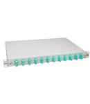 "Splicebox, 4 fibre,SC,50/125µm OM3, culisant,19"",1UV , ECO"
