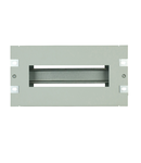 Suport 10€œ pt. ap. modular, cu plastron decupat, 3U, RAL7035