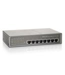 Switch 8xRJ45 10/100/1000 (PoE+), Desktop/Pe perete, 61,6W