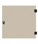 Usa integral din sticla pentru dulap DW 12U, 600mm, RAL7035