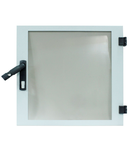 Usa transparenta dulap DW 21U, 600mm, RAL7035, fara broasca