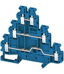 Bloc Terminal De Trecere Mini Linergy2.5Mm² 24A Cu Un Nivel 2X2 Conex. Cu Arc