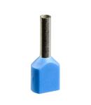 Pini Dubli Pentru Cablare - Mediu - 0,75 Mm² - Albastru