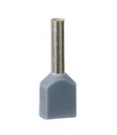 Pini Dubli Pentru Cablare - Mediu - 0,75 Mm² - Gri