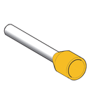 Pini Simpli Pentru Cablare- Lung - 6 Mm² - Galben