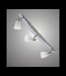 Aplica sau plafoniera Belinda 23 cu 3 becuri - Brilux - argintiu