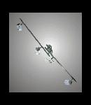 Aplica sau plafoniera Bianca 34A cu 4 becuri - Brilux -  crom satin