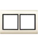 Aquadesign frame, 2-gang, white