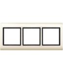 Aquadesign frame, 3-gang, white