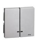 Clapeta 2 Butoane Cu Fereastra Indicator, Ip44, Aluminiu, Sistem M