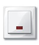 Clapeta Cu Fereastra Rectangulara Indicator Pentru Simboluri,Alb Polar, Lucios