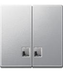 Clapeta 2-Porturi Cu Fereastra Clara Dreptunghiulara, Aluminiu, Sistem M