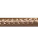 Cordon flexibil 2x0.5 izolatie cu manta textila decorativa Maro sepia-rola 30ml