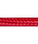 Cordon flexibil 2x0.5 izolatie cu manta textila decorativa Fuchsia inchis -rola 30ml