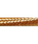 Cordon flexibil 2x0.5 izolatie cu manta textila decorativa Auriu -rola 30ml