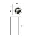Corp de iluminat pentru exterior, gradina Lampa gradina pentru perete 2x5W COB 3000K-D.Grey