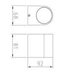 Corp de iluminat pentru exterior, gradina Lampa gradina pentru perete 1xGU10 White