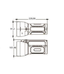 Lanterna reincarcabila TR010 1W SMD 6500K