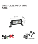 Proiector bara LED GALAXY LBL C 36W 12/24V 6000K 7``/165mm