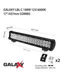 Proiector bara LED GALAXY LBL C 108W 12/24V 6000K 17``/437mm