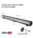 Proiector bara LED GALAXY LBL C 234W 12/24V 6000K 36``/910mm