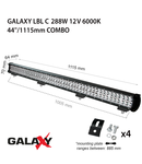 Proiector bara LED GALAXY LBL C 288W 12/24V 6000K 44``/1115mm