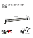 Proiector bara LED GALAXY LBL CS 240W 12/24V 6000K