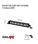 Proiector bara LED GALAXY LBL SLIM 18W 12/24V 6000K