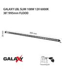 Proiector bara LED GALAXY LBL SLIM 108W 12/24V 6000K