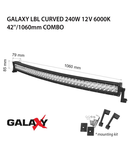 Proiector bara LED GALAXY LBL CURVED 240W 12/24V 6000K