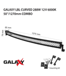 Proiector bara LED GALAXY LBL CURVED 288W 12/24V 6000K